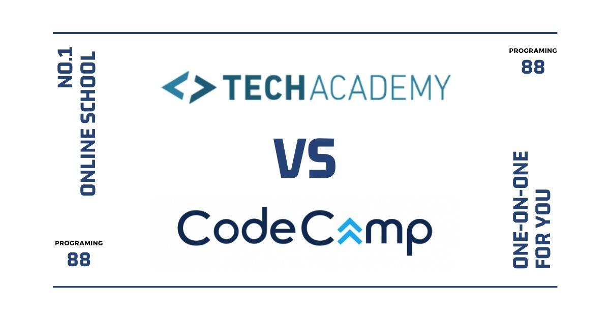 テックアカデミーとコードキャンプを14項目で比較【選び方を解説】