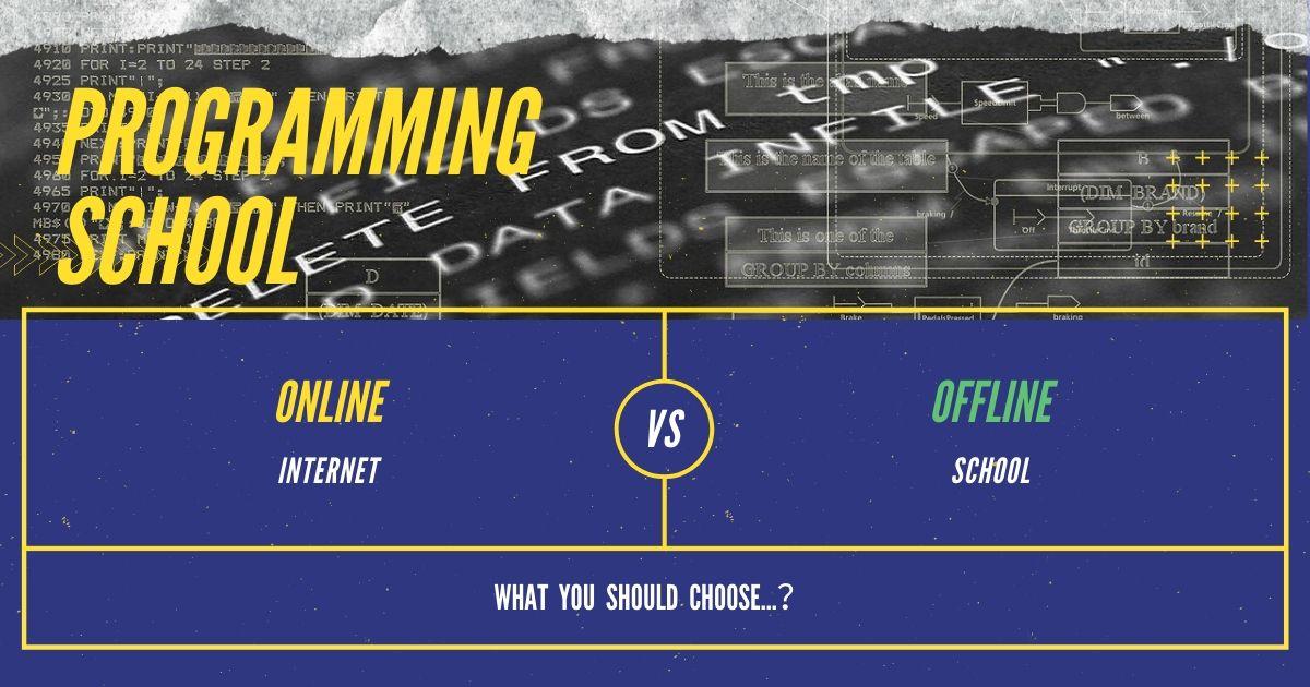 【プログラミングスクール】オンライン vs オフライン(通学制)【一択です】