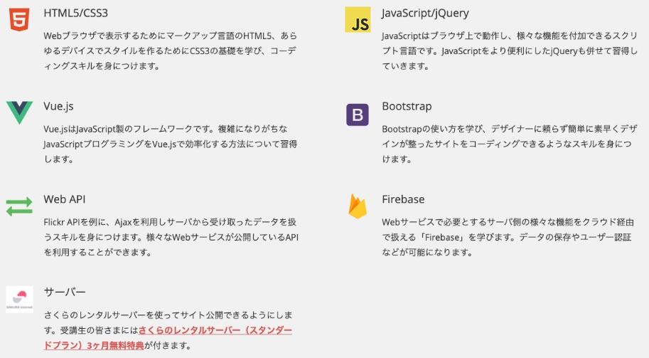 フロントエンドコース:jQueryを使った動きのあるWebページ開発