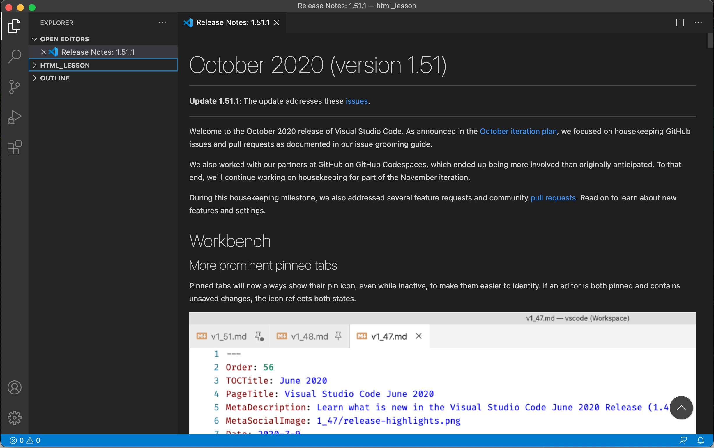 Visual Studio Code for Mac ダウンロード完了