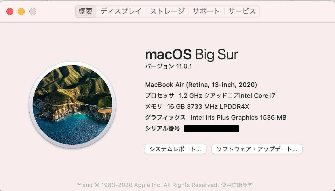 OSのバージョンチェック